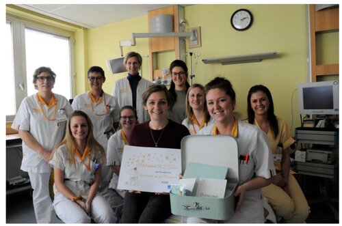 HLN – Dienst materniteit in de bres voor de vzw Berrefonds
